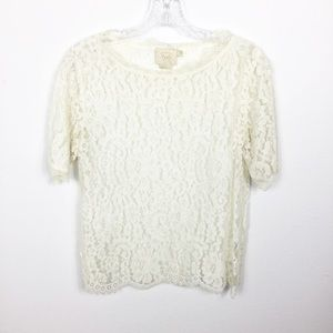 Anthropologie: Vanessa Virginia Size S Lace Top